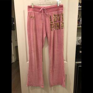 Pink Sequins Velour Pants